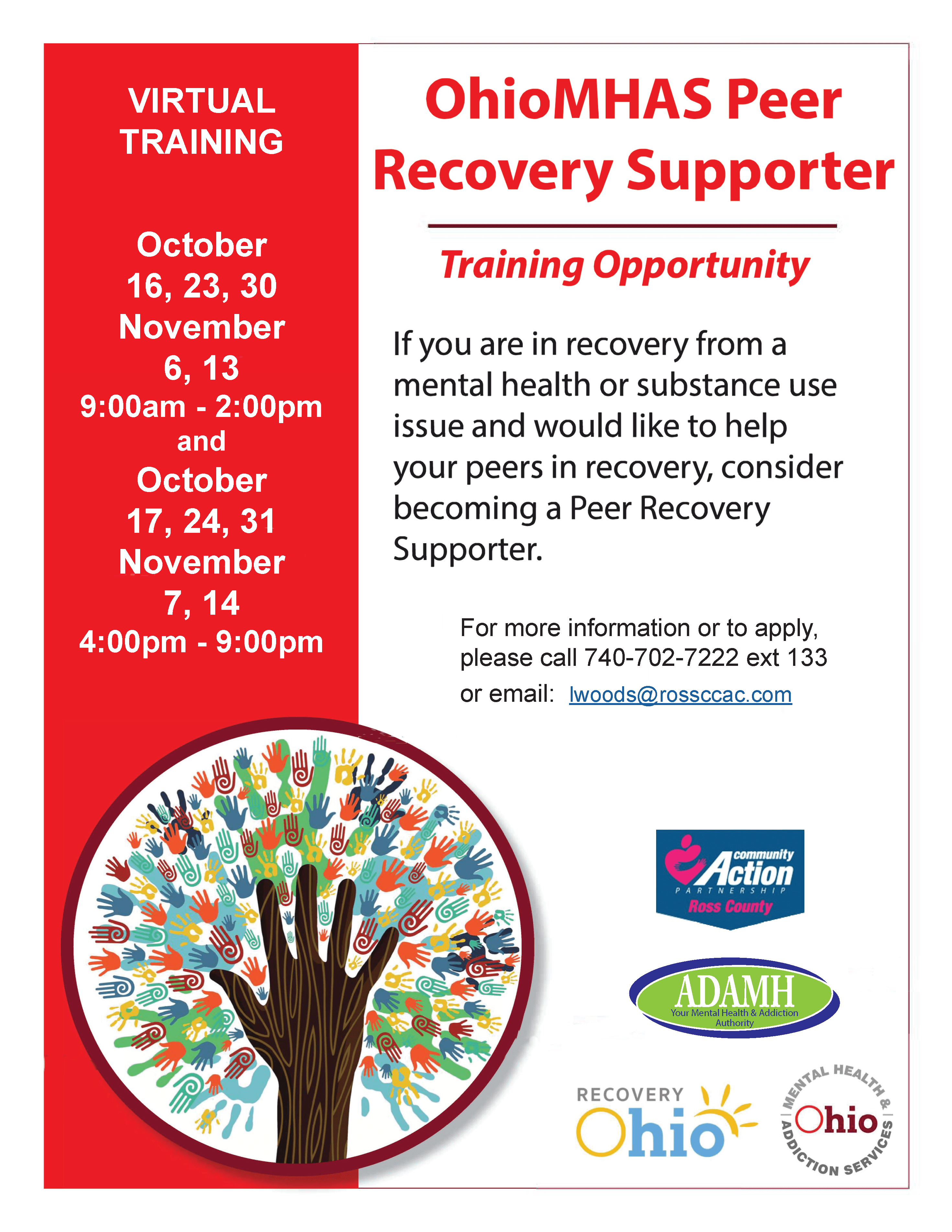 October 2021 Peer Recovery Supporter Training